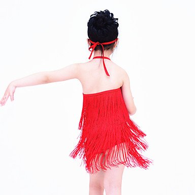 la Accesorios Vestidos Danza Moderna la Ropa en como Licra de Noche de Cheerleader Desempeño Foto Vestidos Jazz PURPLE Danza SC Latina twYrFt