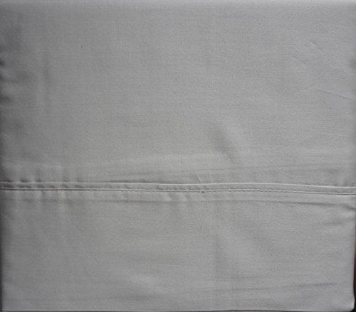 Cotton Queen Size Sheet Set 320 Thread Count Sateen Medium Gray ()