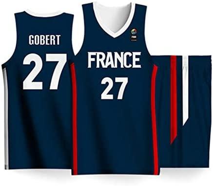 HSLIUQIUYI Rudy Gobert Copa Mundial De Baloncesto Francia No. 27 ...