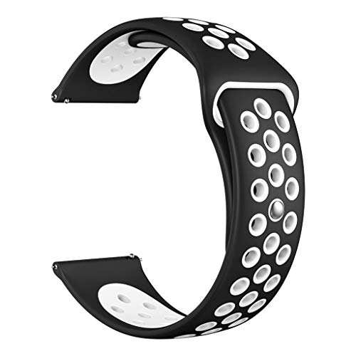 Price comparison product image BIYATE Sport Bands Compatible for Fitbit Versa / Versa Lite Edition,  Silicone Breathable Strap Replacement Bands with Ventilation Holes Wristbands Versa Watchband Accessories for Women and Men Small