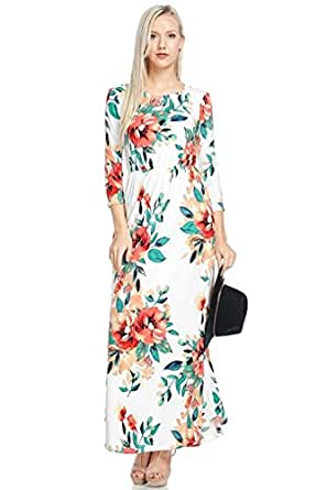 reborn j floral maxi dress with pockets long sleeve at