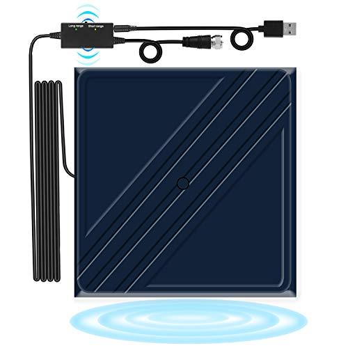 160 Miles TV Antenna, Digital Indoor HD Antennas, AmplifiedHigh Definition HDTV Antenna with Amplifier Signal Booster Support 4K/1080P/VHF/UHF for Local Channels - 17FTCoaxial Cable