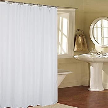 Fabric Shower Curtain Mildew Resistant, Ufriday Bath Curtain Liner With Rust  Proof Metal Grommets,