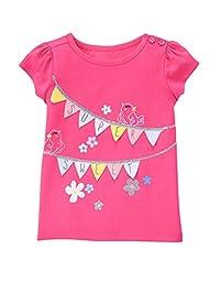 Gymboree Baby Toddler Girls\' Super Sweet Bird Graphic Tee, Babydoll Pink, 2T