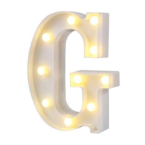 Amazon.com: Youzone - Letras LED de plástico para decoración ...