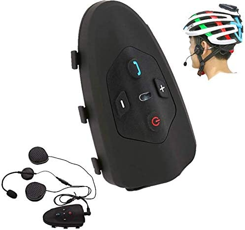 ZGYQGOO - Casco de Bicicleta Walkie-Talkie Bluetooth 3.0 ...