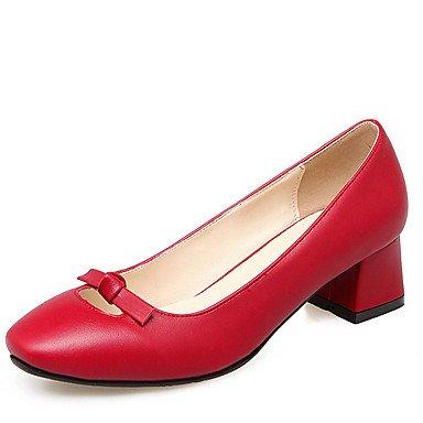 Zormey Zapatos De Mujer Chunky Talón Square Toe Bowknot Slip En Bombear Más Colores Disponibles US5.5 / EU36 / UK3.5 / CN35