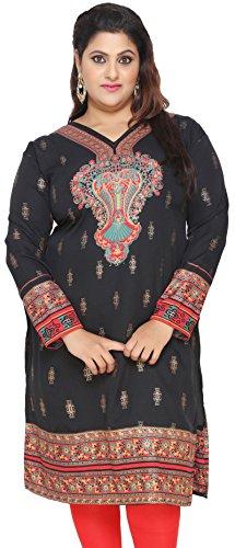Maple-Clothing-Plus-Size-Womens-Dress-Indian-Tunics-Kurti-Long-Top