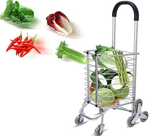 Escalera Que Sube El Carro De La Compra Plegable del Carro De Compras Plegable De La Tienda De Comestibles con El Bolso...