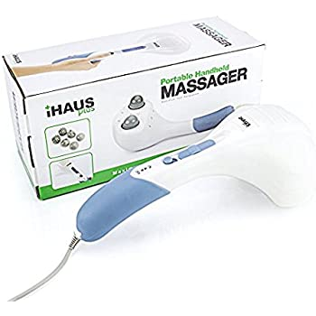 Double Head Electric Massager Percussion Action Handheld Massager for Deep Tissue Muscle Kneading, Variable Speed