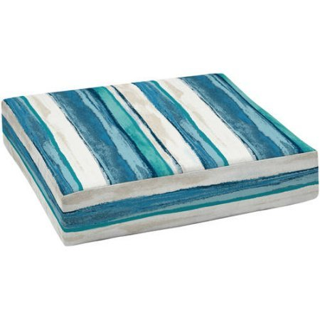Deep Seating Patio Cushions - Mainstay.. Durable 100% Polyester Outdoor Patio Deep Seat Bottom Cushion (Blue Stripe)