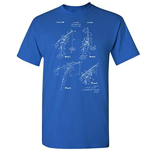 Ice Fishing Tip Up T-Shirt, Fisherman Gift, Ice Fishing Tee, Fishing Shirt, Fishing Shirt, Ice Fishing Design Royal Blue (XL)
