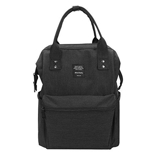 BigForest Multifunction Baby Diaper Nappy Changing Bag Mummy Backpack Travel Bag Tote Handbag Black