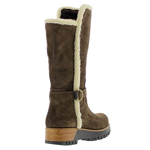 MANAS Womens 2215ex Leather Boots Moro