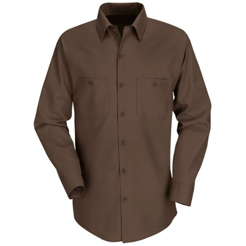Pit Crew Cap (Red Kap Men's Industrial Work Shirt, Chocolate Brown, 2X-Large Long)