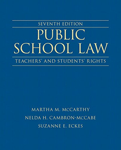Public School Law: Teachers' and Students' Rights Plus NEW MyEdLeadershipLab with Pearson eText -- Access Card (7th Edition) (New 2013 Ed Leadership Titles)