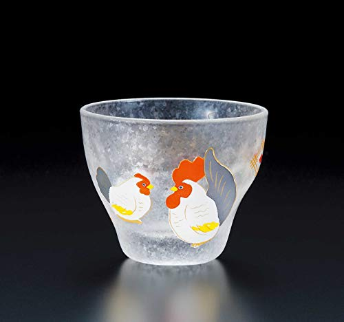 ADERIA Made in Japan Quality Auspicious Chinese Zodiac Animal Sign Chicken Shot Glass 90ml Chinese Zodiac Animal Signs