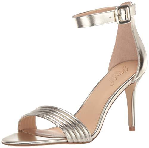Badgley Mischka Jewel Women's Kristina Heeled Sandal Gold/Metallic 9.5 M US (Satin Metallic Heels)