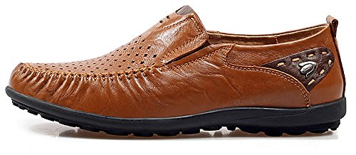 Comfort Men's brown Slip MOHEM Driving On Loafers Casual R hole8117 Flats Shoes Boat Car Soft Octopus TBwwxEg