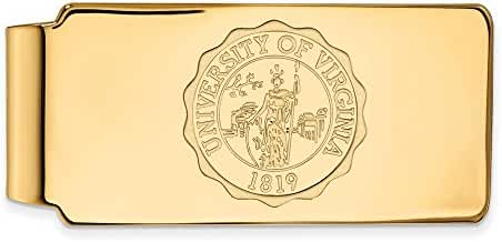 14k Yellow Gold LogoArt Official Licensed Collegiate University of Virginia (UVA) Money Clip Crest