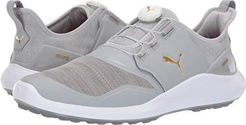 Puma Golf Men's Ignite Nxt Disc Golf Shoe, high Rise Team Gold-Puma White, 9 M US
