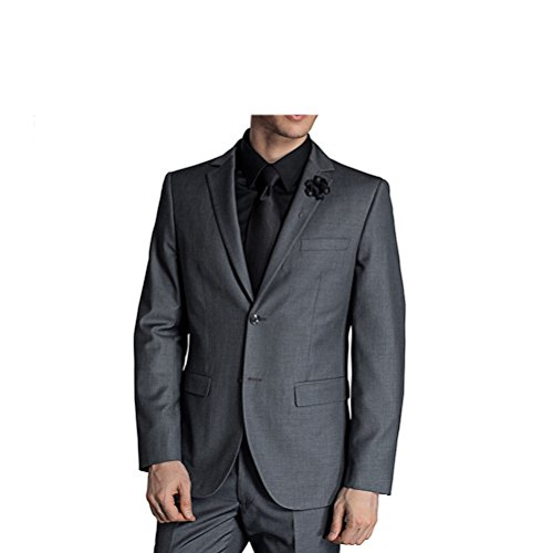 577Loby Men Business Suit Slim Fit Classic Male Suits Blazers Suit Two Buttons 2 Pieces(Suit Jacket+Pants) by 577Loby (Image #2)