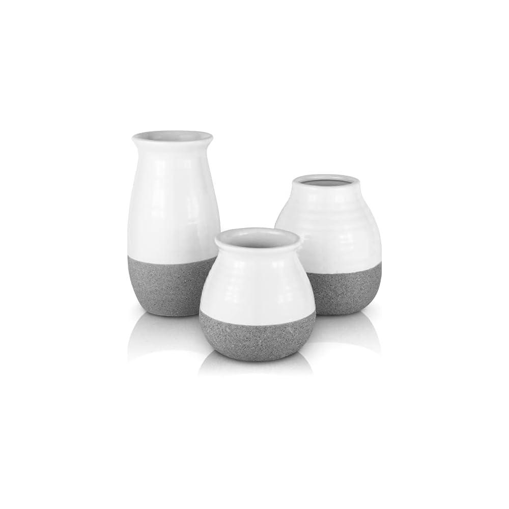 Modern Farmhouse Decor, Vases for Decor, Ceramic Vase Modern Home Decor, Rustic Home Decor Vases for Flowers, Rustic…