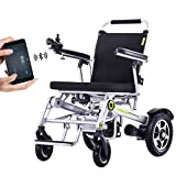 Full Automatic GPS Folding Electric Wheelchair, for a Disabled Person Modern Powerchair with APP control function