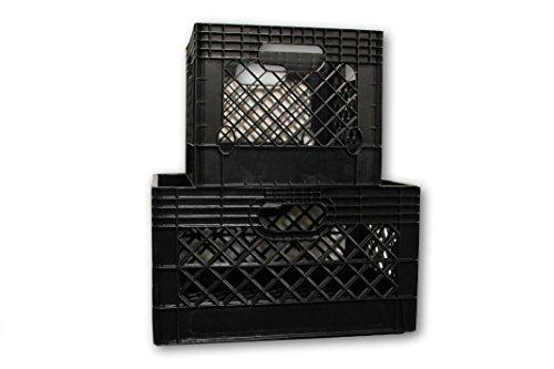 Jezero MC-Combo Multi-Purpose Rectangle and Square Milk Crate Combo Kit, Black