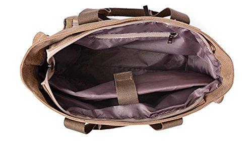 pengweiBolso diagonal de la cremallera del recorrido universal masculino y femenino de la capacidad grande del bolso de hombro de la lona , 2 1