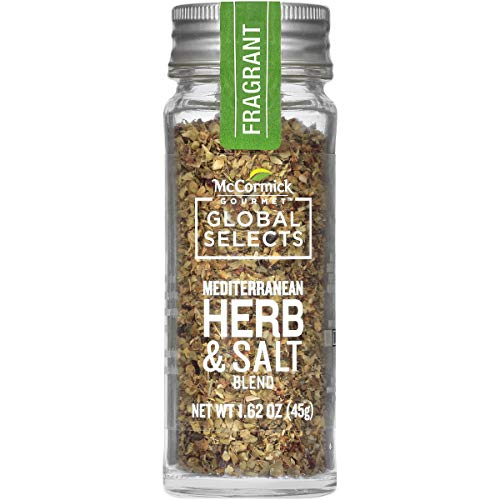 Mediterranean Herb - McCormick Gourmet Global Selects Mediterranean Herb & Salt Blend, 1.62 oz