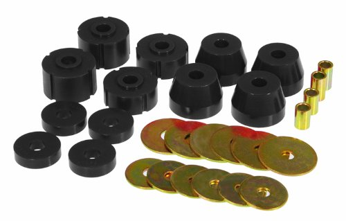 Prothane 4-102-BL Black Body Mount Kit ()