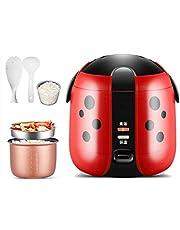 Zhihao 200W Cocina de arroz, la Cerradura de Seguridad/Steam Vent/Cooki, al Mismo Tiempo, 1.2L Capacidad portátil de Vapor, Rojo (Color : Red)