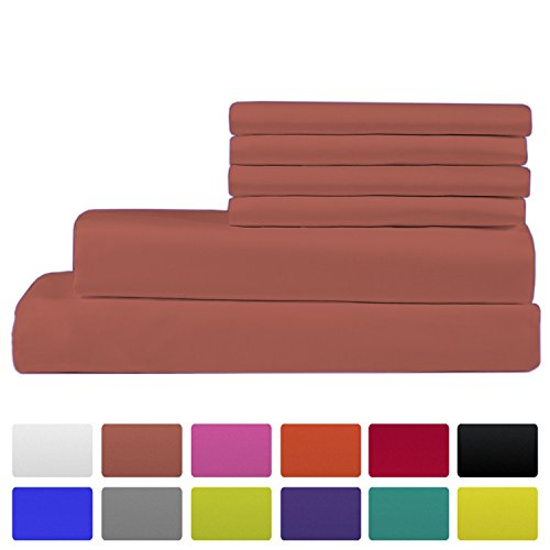 Price comparison product image Premium Bamboo Bed Sheets - Queen Size, Coral Sheet Set - Deep Pocket - Ultra Soft Cool Bedding - Hypoallergenic Blend From Natural Bamboo - 1 Fitted, 1 Flat, 4 Pillow Cases - 6 Piece