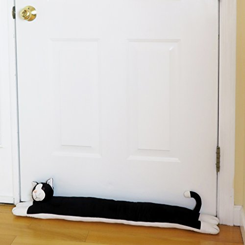 "Evelots 38"" Cat Door And Window Draft Stopper- Save Evergy & Money, Keep Heat In"