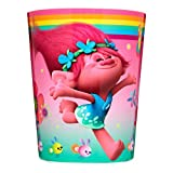 DreamWorks' Trolls 'Show Me a Smile' Wastebasket (Waste Basket / Trash Can / Wastecan) For Kid's Child's Children's Bedroom Bathroom Bed Room Accessory Featuring Princess Poppy Character