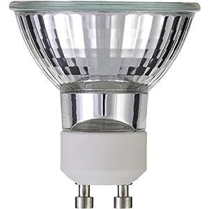 50W GU10 Dimmable Halogen Light Bulb 400 Lumens 240V 38 Degree Beam Angle – Pack fo 10
