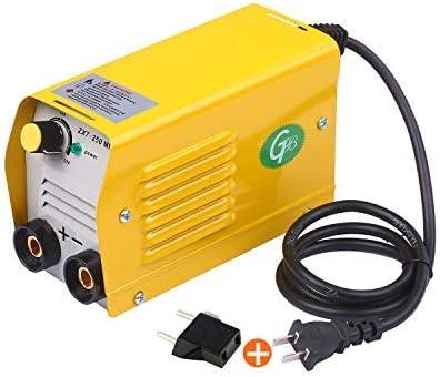 KKmoon Soldadora de arco 250Amps,Máquina de soldadura IGBT,Mini soldadora eléctrica,portátil antiadherente para varillas de 2.5-3.2 mm para soldadura eléctrica