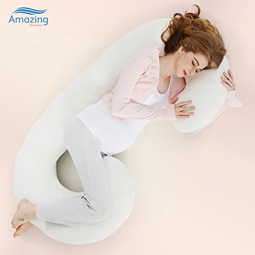 Amazing Dreams Maternity Body Pillow, Soft Bamboo Memory Foa