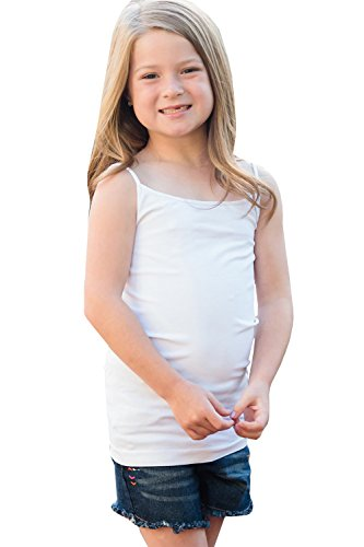 Price comparison product image Umeko Girls Tank Tops Cami Organic Cotton Spandex Undershirts Spaghetti Straps Tanks