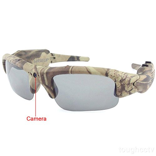 Toughsty16GB Outdoor Hunting Camera Eyewear Camo Polarized Sunglasses Spy Video Recorder