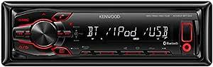 Kenwood Electronics KMM-BT34 sintonizador de CD/DVD para el coche - Radio para coche (FM, LW, MW, MOSFET, LCD, Negro, 4x 50W, 182 x 107 x 53 mm)