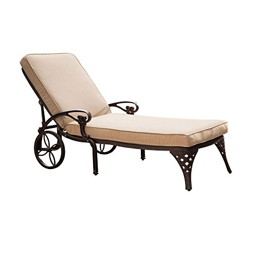 Home-Styles Biscayne Chaise Lounger Outdoor Patio Sunbrella Fabric Custom Made Cushions - Cushions Only #WHCHHBCS