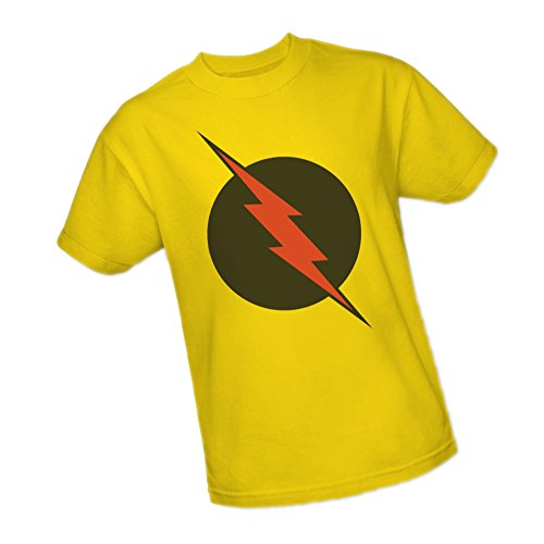 Reverse Flash Logo -- Justice League Adult T-Shirt, Large (Reverse T-shirt Flash)