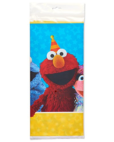 "American Greetings Sesame Street 54"" x 96"" Plastic Table Cover"