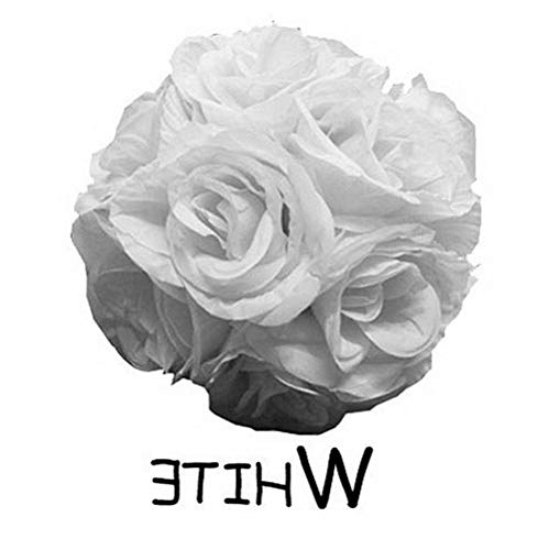 Mikash 10 Flower Kissing Ball Wedding Silk Rose Balls Party Pomander Flower Decoration | Model WDDNGDCRTN - 23761 |