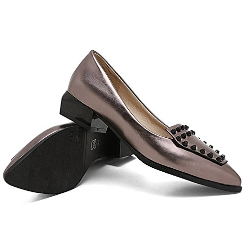 Zanpa 1 Slip Flat On Gunmetal Pumps Women rBXwqr