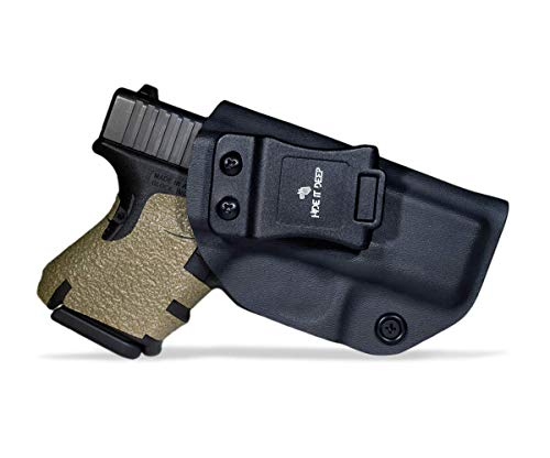 Hide It Deep IWB KYDEX Holster Fits: Glock 26 / Glock 27 / Glock 33 - Concealed Carry Holster (Black, Right Hand Draw (IWB))