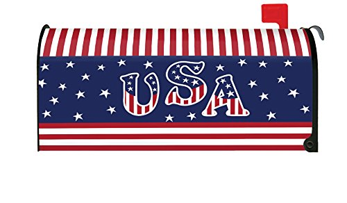 Toland Home Garden Veteran Salute Patriotic USA 4th July Magnetic Mailbox Cover by Toland Home Garden