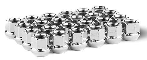 Race Secure 86309 Triple Chrome Plating,Open-End, M14x1.5 Thread,Bulge Acorn Wheel Lug Nut Set (Pack of 24)